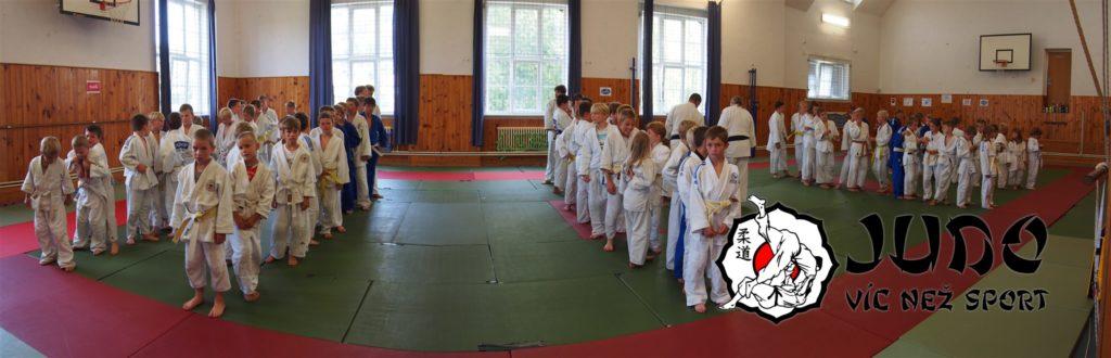 Judo víc než sport – tábor v Nižboru 2017 – Nástup družstev