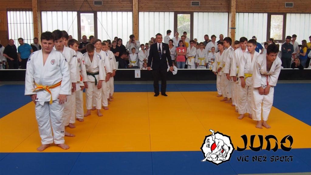 První družstvo Judo víc než sport v kategorii starších žáků (13. 4. 2019 v Kolíně)